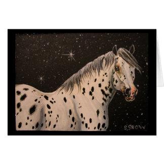 Appaloosa-Pferdesternenklare Nacht Karte