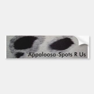 Appaloosa-Stellen R wir Autoaufkleber