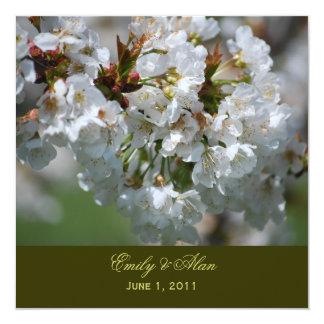 Apple blühen Hochzeits-Einladung Quadratische 13,3 Cm Einladungskarte
