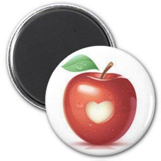 Apple-Herz Runder Magnet 5,7 Cm
