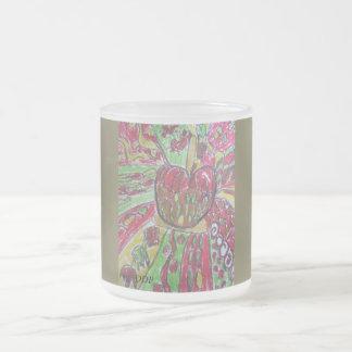 Apple-Kunst Matte Glastasse