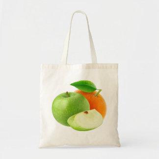 Apple und Orange Tragetasche