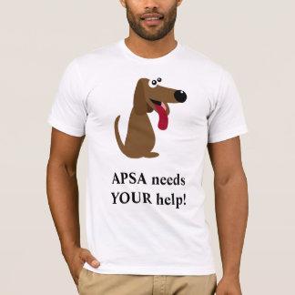 APSA Tierschutz-Wohltätigkeit-Cartoon-Hund T-Shirt