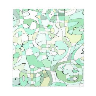 Aqua abstrakt notizblöcke