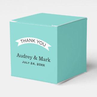 Aqua-Blau des Gastgeschenk Hochzeits-Behälter-| Geschenkkarton