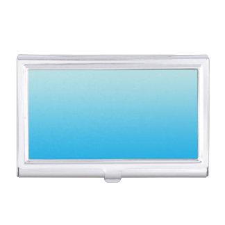 Aqua-Blau Ombre Visitenkarten-Behälter