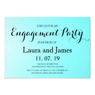 Aqua-blaue Verlobungs-Party Einladung
