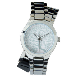 Aqua-Eichen-Uhr Uhr