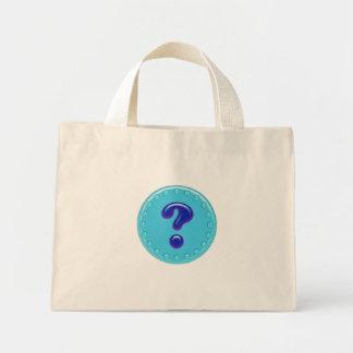 Aqua-Fragezeichen Mini Stoffbeutel