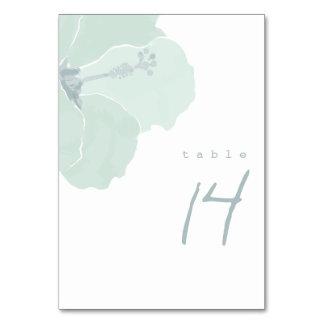 Aqua-Hibiskus-Hochzeits-Empfangs-Tischnummer