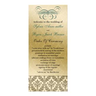 Aqua Hochzeitsprogramm Bedruckte Werbekarten
