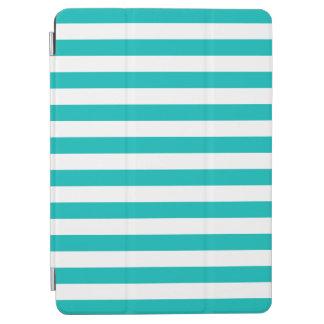 Aqua-horizontale Streifen iPad Air Cover