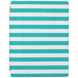 Aqua-horizontale Streifen iPad Hülle