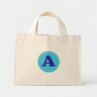 Aqua-Initiale A Einkaufstaschen