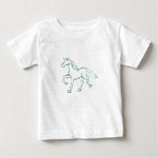 Aqua-Linie Einhorn Baby T-shirt