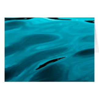 Aqua-Wasser-Kräuselung Grußkarte