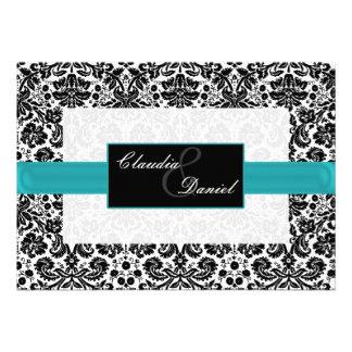 Aquadamast-Hochzeitseinladung Individuelle Einladungen