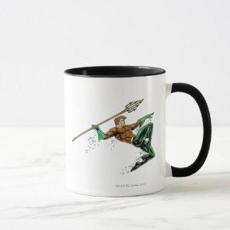 Aquaman, das mit Stange losstürzt Tasse