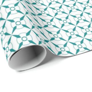 Aquamarin und weiß einpackpapier
