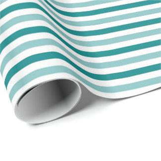 Aquamarin und weiß geschenkpapierrolle