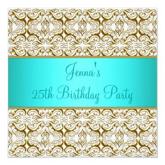 Aquamarine 25. Geburtstags-Party Ankündigung
