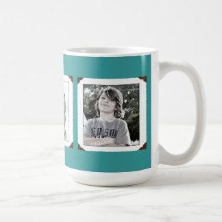 Aquamarine Multi-Foto Geschenk-Tasse für Mamma Tasse