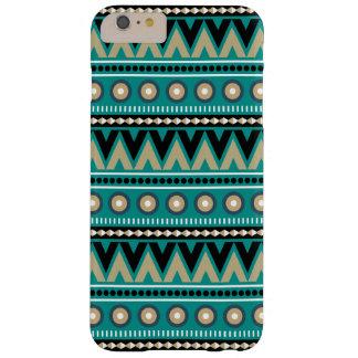 Aquamarine schwarze Goldaztekische stilvolle Barely There iPhone 6 Plus Hülle