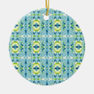 Aquamarine Zitronen-künstlerisches geometrisches Keramik Ornament
