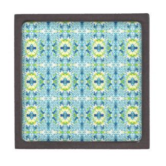 Aquamarine Zitronen-künstlerisches geometrisches Kiste