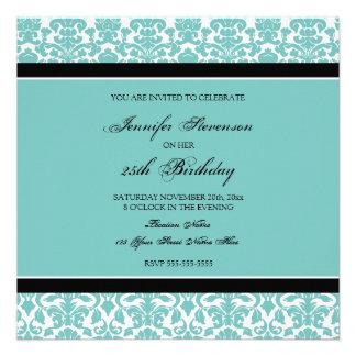 Aquamariner Damast-25. Geburtstags-Party