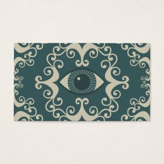 Aquamariner Damast-Augapfel-psychische Visitenkarte