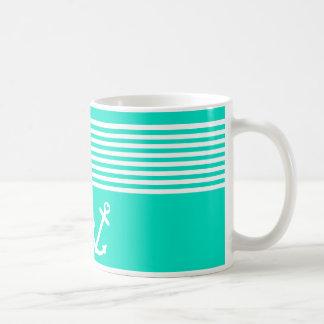 Aquamariner Liebe-Anker nautisch Tasse