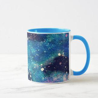 Aquamariner Nebelfleck und Sterne Tasse