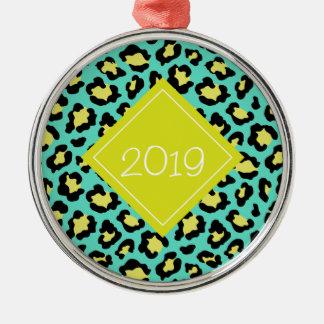 Aquamariner Tierdruck Silbernes Ornament