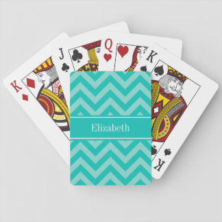 Aquamariner Türkis FahrwerkZickzack aquamarines Spielkarten