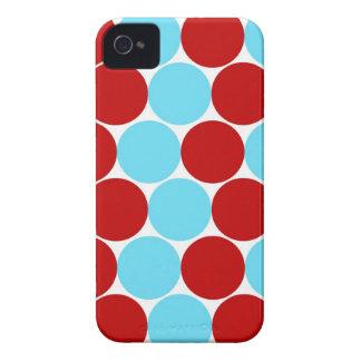 Aquamariner Türkis-rote große iPhone 4 Case-Mate Hüllen