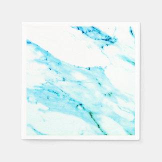 Aquamariner und weißer Marmor Servietten
