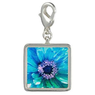 Aquamarines blaues Gänseblümchen Foto Anhänger