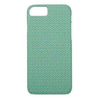 Aquamarines, blaues und gelbes Ikat Muster - iPhone 8/7 Hülle