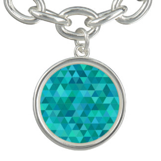 Aquamarines Dreieckmuster Charm Armband