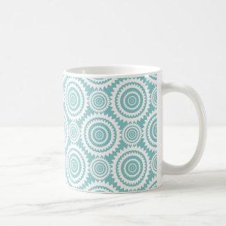 Aquamarines geometrisches Pastellmuster-coole Tasse