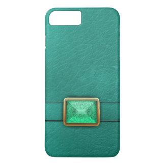 Aquamarines Imitat Leder und iPhone 8 Plus/7 Plus Hülle