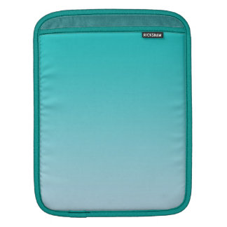 Aquamarines Ombre iPad Sleeve