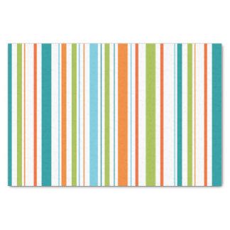 Aquamarines, orange u. grünes seidenpapier