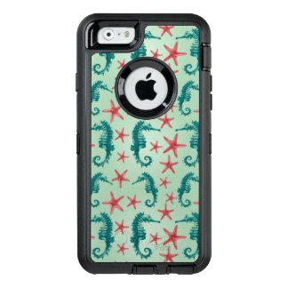 Aquamarines Seepferd-Muster 2 OtterBox iPhone 6/6s Hülle