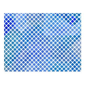 Aquarell-Arabeske-Muster Postkarte