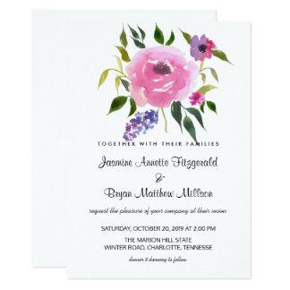 Aquarell-Blumenbündel-Hochzeits-Chic Karte