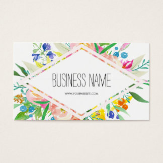 Aquarell-Blumendiamant Visitenkarte
