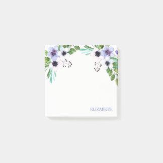 Aquarell-Blumenstrauß Post-it Klebezettel
