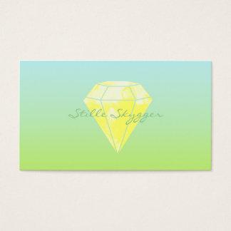 Aquarell-Diamant Visitenkarten